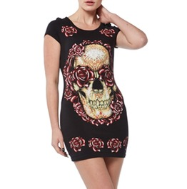 Dress Skull Roses Goth Punk Jawbreaker Clothing Size U S 8 U K 12