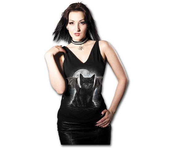 spiral_ladies_top_bat_cat_v_neck_strap_back_dip_size_s_usa_4_uk_8_tanks_tops_and_camis_3.jpg