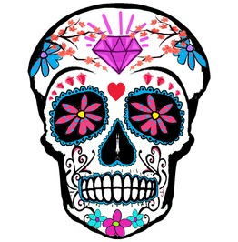 Sugar Skull Temporary Tattoo Inkwear