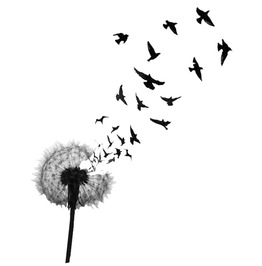 Dandelion & Birds Temporary Tattoo Inkwear