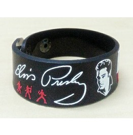 Elvis Presley Wristband Rubber Silicone Bracelet Punk Rock Heavy Metal Band