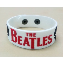 Beatles Wristband Rubber Silicone Bracelet Punk Rock Heavy Metal Band