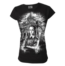 T Shirt Fitted Ladies Womens Girls Wednesday Adams Family Size X L