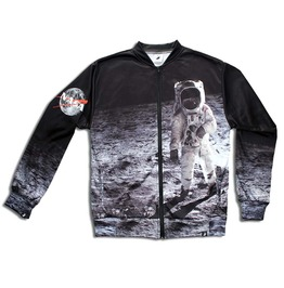 'moonwalk' Men's Printed Bomber Sweatshirt