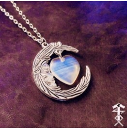 Moonlight Heart Necklace