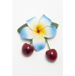 Rockabilly Hawaiian Plumeria Cherry Hair Flower.
