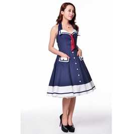 Candy Sailor Halter Dress