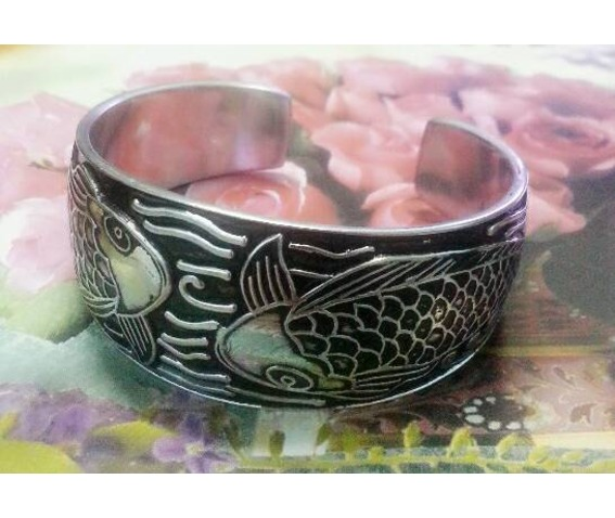 carp_fish_emboss_bracelet_cuff_bangle_stainless_steel_silver_color_tibetan_bracelets_4.jpg