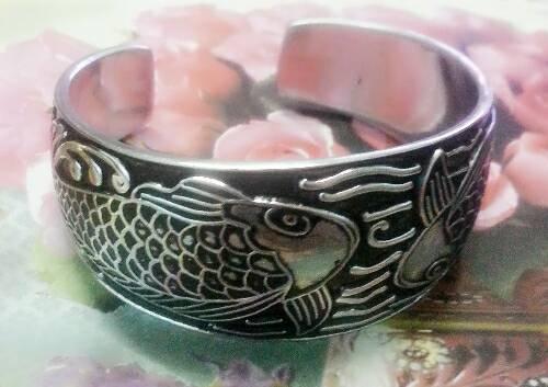 carp_fish_emboss_bracelet_cuff_bangle_stainless_steel_silver_color_tibetan_bracelets_4.jpg