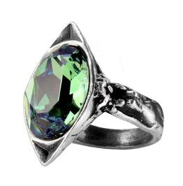 Absinthe Fairy Spirit Crystal Gothic Ring By Alchemy Gothic