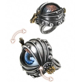 Automaton's Eye Steampunk Ring By Alchemy Gothic