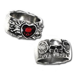 Broken Heart Gothic Ring By Alchemy Gothic