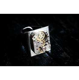 Steampunk Bdsm Men's Jeweled Rubies Ring Soviet Vintage Birthday Gift Man