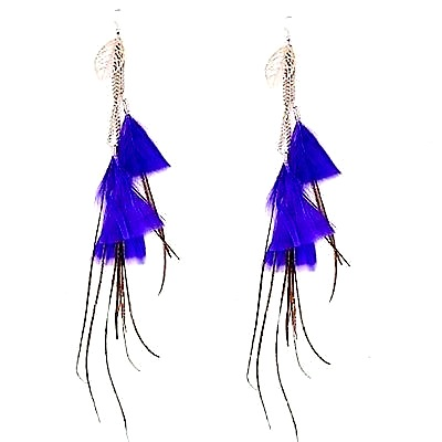 unique_long_blue_feather_design_earrings_metal_silver_leafs_earrings_2.jpg