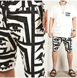 Eyes Printed Cotton Shorts 32