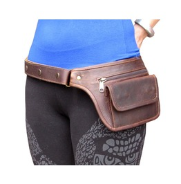 Leather Pouch Sexy Fanny Pack Burning Man Belt Bag