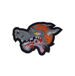 Mad Wolf Kingsize Big Back Patch Iron On Sew On Biker 6.69 Inch / 9.44 Inch