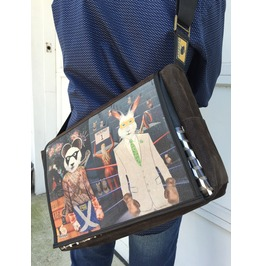 Student Panda Vs. Rabbit Benga Rabbit Messenger Bag