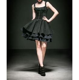 Punk Rave Steampunk Skull Women Dress Q 239