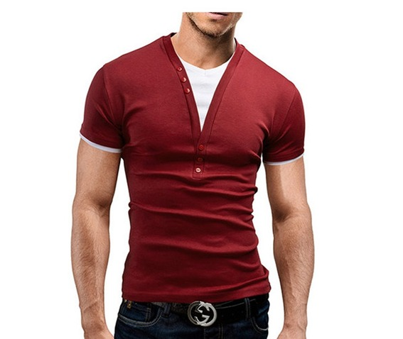 black_gray_red_navy_mens_cotton_solid_v_neck_slim_fit_short_sleeve_t_shirt_polo_shirts_6.jpg