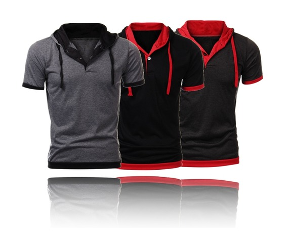 mens_black_gray_light_gray_hooded_short_sleeve_casual_t_shirt_hoodies_and_sweatshirts_6.jpg