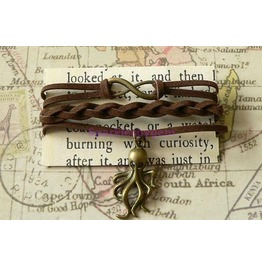 Brown Suede Wrap Bracelet With Cthulhu Charm