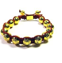 Gold Prosperity Shambhalla Bracelet
