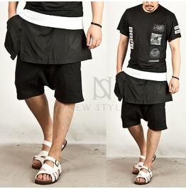 Wing Skirt Layered Sweat Shorts 34