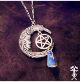 Moonlight Pentagram Necklace