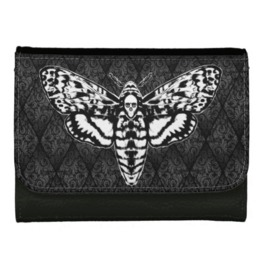 Death's Head Moth Wallet Faux Leather Or Leather