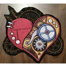 Steampunk Heart Patch