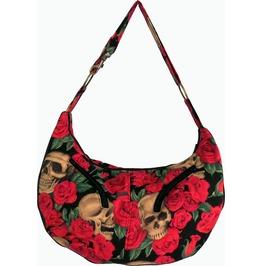 Skulls In Roses Sheena Hobo Bag