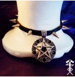 Spiked Pentagram Choker