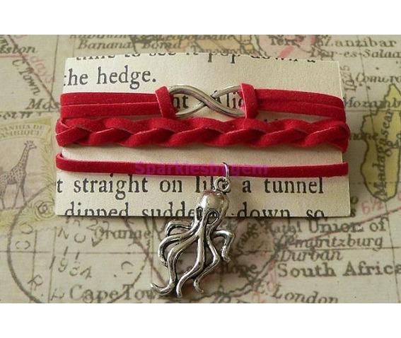 red_suede_wrap_bracelet_with_cthulhu_charm_bracelets_2.jpg