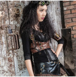 Steampunk Leather Shoulder Chest Harness