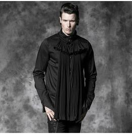 Punk Rave Classic Italian Gothic Men Fold Long Sleeve Shirts B472