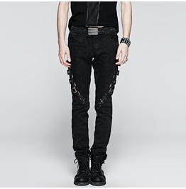 Punk Rave Skull Mens Printed Jeans B216