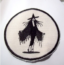 Embroidered Sexy Wicked Witch Sew/Iron On Patch Badge