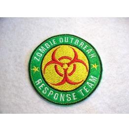 Embroidered Zombie Outbreak Response Team Iron/Sew On Patch Badge Zombie
