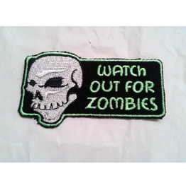 Embroidered Watch Out For Zombies Iron On Or Sew On Patch Badge Zombie
