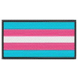Embroidered Transgender Pride Flag Iron/ Sew On Patch Badge