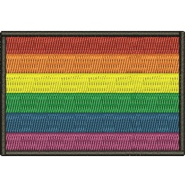 Embroidered Gay Pride Rainbow Flag Iron/ Sew On Patch Badge