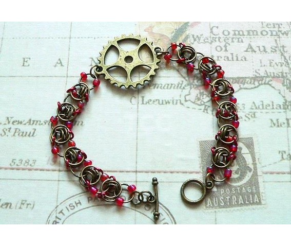 steampunk_chain_mail_bracelet_with_bronze_cogs_and_red_beads_bracelets_2.jpg