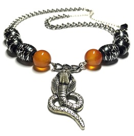 Carnelian Cobra Necklace