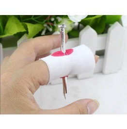 Hot Sale Prank Fake Nail Through Finger Trick Magic Props April Fool Hallow