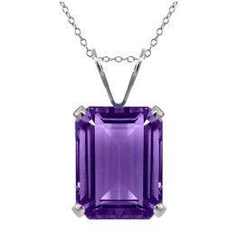 Gothic Rectangular Shape Amethyst Purple Colour Gem Pendant