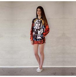 'divine Ink' Women's Printed Bomber Sweatshirt Gagaboo