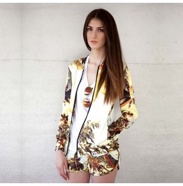 'palm Springs' Women's Printed Bomber Sweatshirt Gagaboo