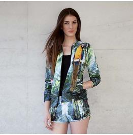'jungle Call' Women's Printed Bomber Sweatshirt Gagaboo
