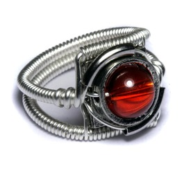 Cyberpunk Jewelry Ring Red